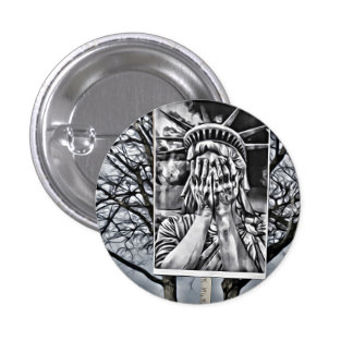 Liberty Crying 1 Inch Round Button