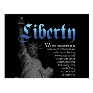 Liberty Declared Postcard