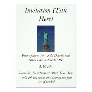 "Liberty Enlightening the World - Statue of Liberty 4.5"" X 6.25"" Invitation Card"