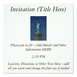 "Liberty Enlightening the World - Statue of Liberty 5.25"" Square Invitation Card"
