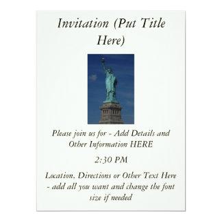 "Liberty Enlightening the World - Statue of Liberty 6.5"" X 8.75"" Invitation Card"