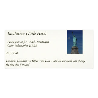 Liberty Enlightening the World - Statue of Liberty Personalized Invitation