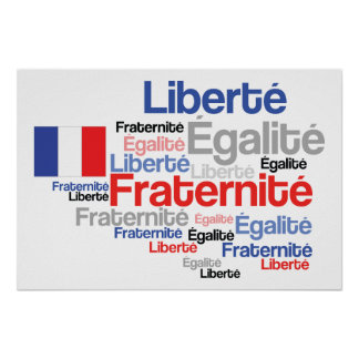 Liberty, Equality, Fraternity French Flag Print