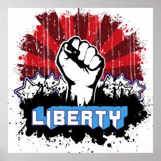 Liberty Fist Poster