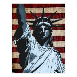 Liberty Flag Postcard