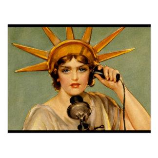 """Liberty Girl - """"Call Me"""" Postcard"""