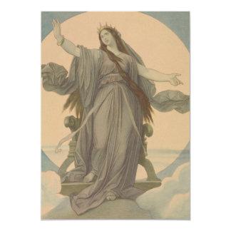 "Liberty Goddess 5"" X 7"" Invitation Card"