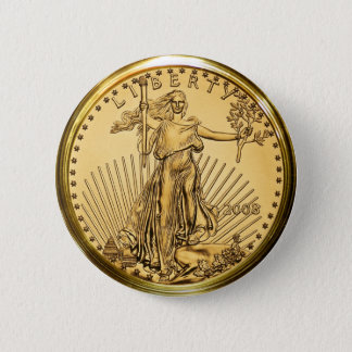 Liberty Gold Bullion Coin 2 Inch Round Button