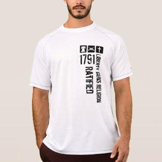 Liberty Guns Religion Ratified 1791 B&W T-Shirt
