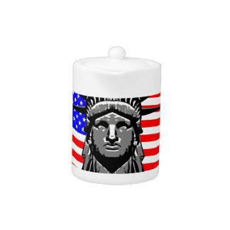 Liberty Head Over Flag