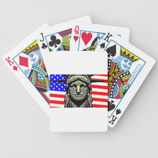Liberty Head Over Flag Bicycle Playing Cards