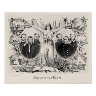 Liberty Honors the Brave by Kimmel & Forster 1865 Poster
