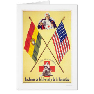 Liberty Humanity Bolivia Red Cross WPA Card