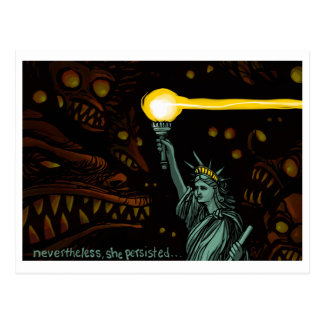 Liberty in Darkness, Nevertheless She Persisted Postcard