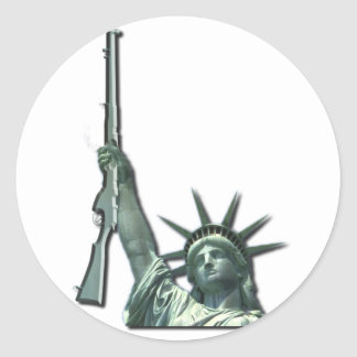 LIBERTY IN FIREARMS - 2ND AMENDMENT CLASSIC ROUND STICKER