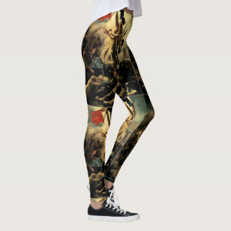 Liberty Leading the People by Delacroix Leggings