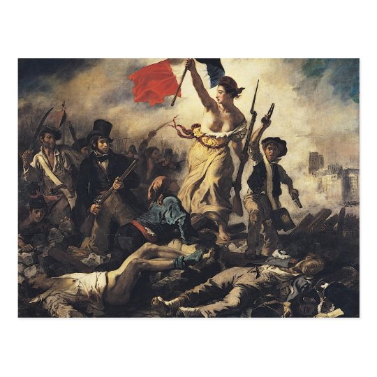 Liberty Leading the People by Eugene Delacroix Postcard