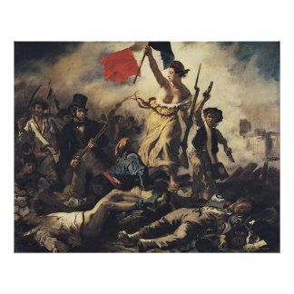 Liberty Leading the People by Eugene Delacroix Poster
