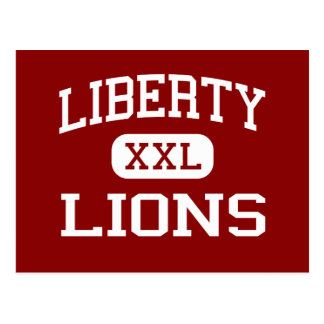Liberty - Lions - High - Brentwood California Postcard