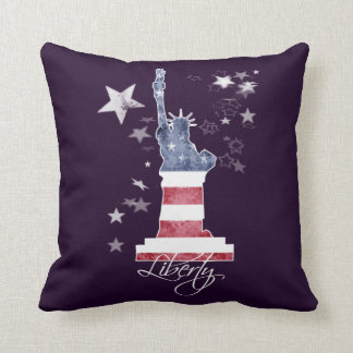 Liberty Manhattan New York USA, Art Throw Pillow