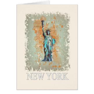 Liberty, New York, Manhattan, the USA, America Card