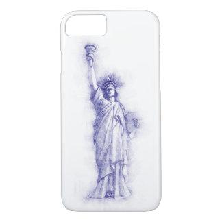 Liberty, New York, Manhattan, the USA, America iPhone 7 Case