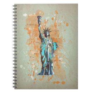 Liberty, New York, Manhattan, the USA, America Notebook