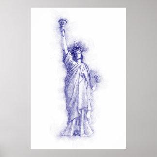 Liberty, New York, Manhattan, the USA, America Poster