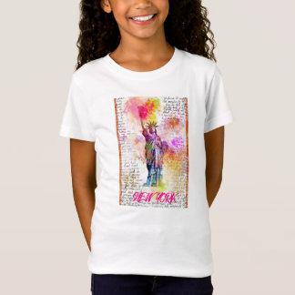 Liberty New York. Rainbow Color illustration T-Shirt