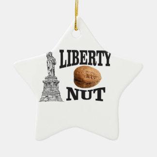 liberty nut ceramic ornament