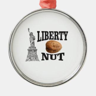 liberty nut metal ornament