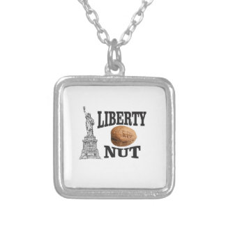 liberty nut silver plated necklace