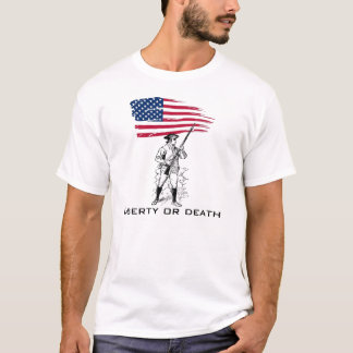 Liberty or Death, Minuteman with Flag T-Shirt