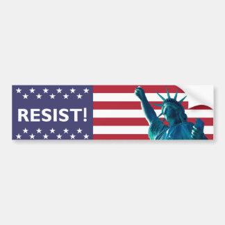 Liberty Resists Flag Backdrop Bumper Sticker