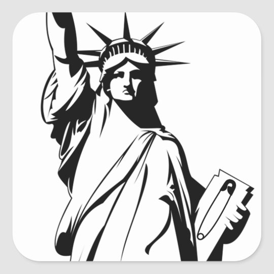 Liberty Safety Pin Sticker (Square)