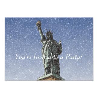 "Liberty Snow 5"" X 7"" Invitation Card"