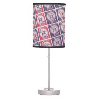 Liberty Stamps Collage Desk Lamps