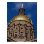 Liberty statue, Gold Gilded Dome, Atlanta, Georgia Post Cards