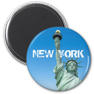 LIBERTY STATUE, NEW YORK 2 INCH ROUND MAGNET