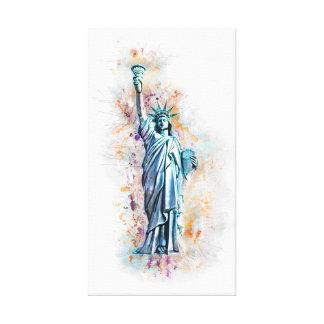 Liberty, Statue of Liberty, New York, Manhattan, Canvas Print
