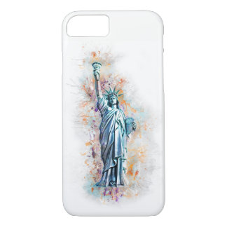 Liberty, Statue of Liberty, New York, Manhattan, Case-Mate iPhone Case