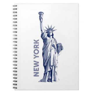 Liberty Statue of Liberty New York the USA, kind Spiral Notebook