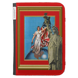 Liberty, sword and light kindle folio cases