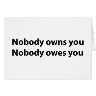 Liberty Themed Notecards - Nobody Owns You! Note Card