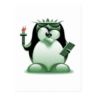Liberty Tux (Linux Tux) Postcard