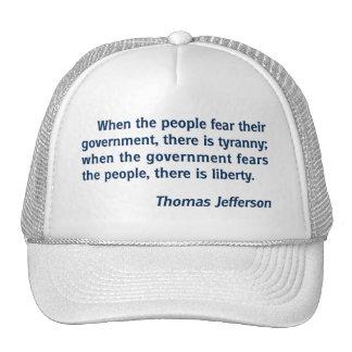 Liberty - Tyranny: Thomas Jefferson Quote Trucker Hat