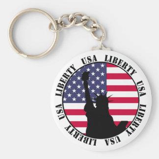 Liberty USA Keychain