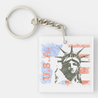 LIBERTY USA KEYCHAIN