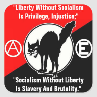 liberty without socialism square sticker