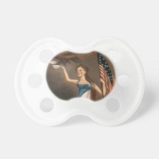 Liberty Woman Eagle American Flag USA Freedom Baby Pacifier
